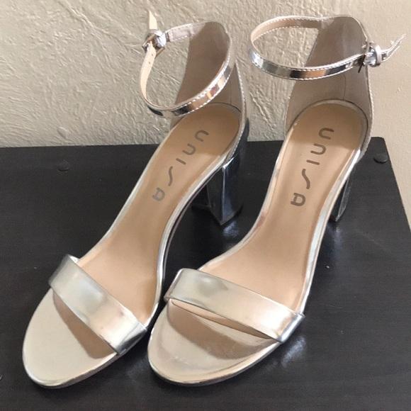 bc1aa0d5a8d Unisa Daicy block heeled silver sandal. M 5b61bbbabf7729a2b5b9e0b6
